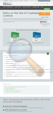 Policy Use Cryptographic Controls Iso Template English preview. Click for more details