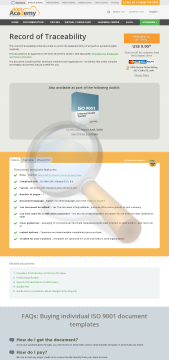 Record Traceability Iso Template English preview. Click for more details