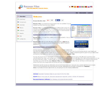 Recover Files Personal License preview. Click for more details