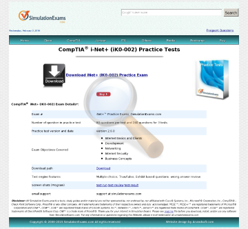 Sim Net Practice Tests Full Version preview. Click for more details