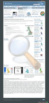 United Kingdom Interactive Flash Map Single License preview. Click for more details