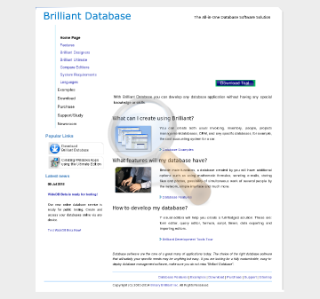 Brilliant Database Professional Full Version preview. Click for more details