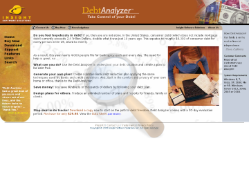 Debt Analyzer Full Version preview. Click for more details