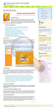 Disk Recovery Wizard Standard License preview. Click for more details